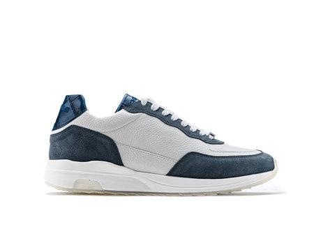 Horos  | Donker Blauwe Witte Sneakers
