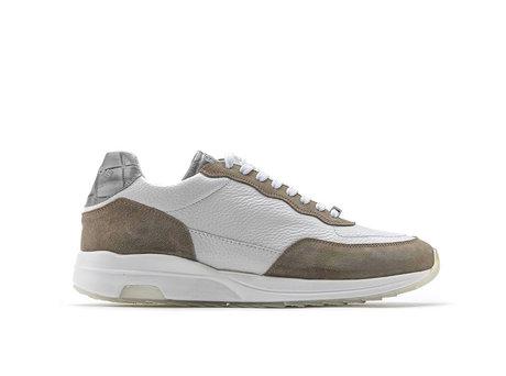 Khaki Weiße Sneakers Horos