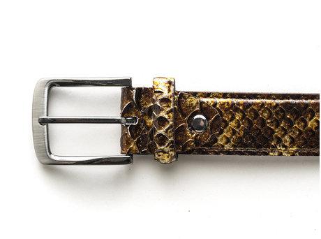 REHAB Belt Snake Met 121 Brown