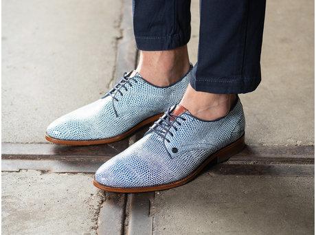 Blaue Business Schuhe Brad Lizard 121