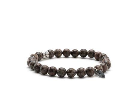 Armband Obsidian Snowflake Brown
