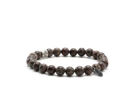 REHAB Bracelet Obsidian Snowflake Brown