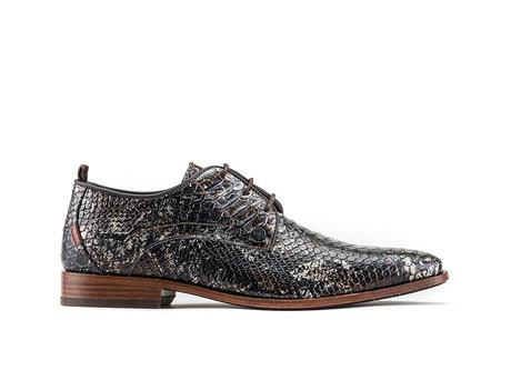 Greg Snk Splash | Donkerbruine nette schoenen