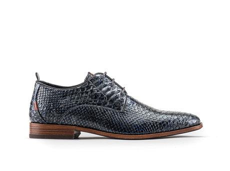 Greg Snk Splash | Donkergrijze nette schoenen