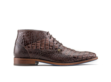 Barry Crc | Donkerbruine nette schoenen