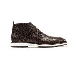 Potsavivo Weave   Dark brown lace up shoes