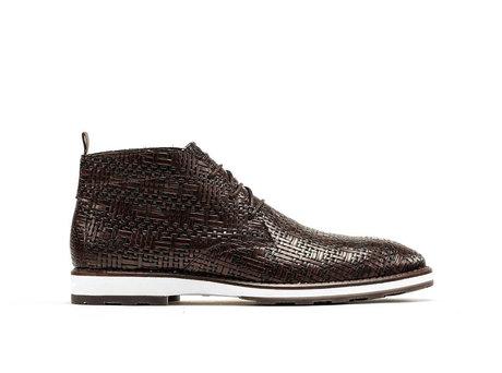 Potsavivo Weave | Dark brown lace up shoes