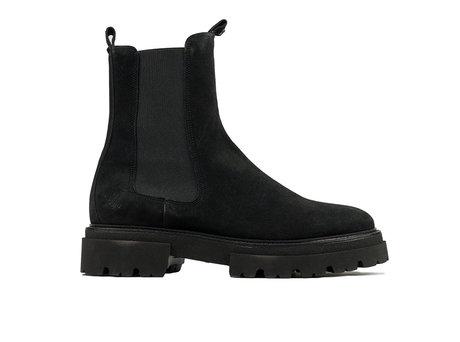 Kaatje Wildleder   Schwarze chelsea boots