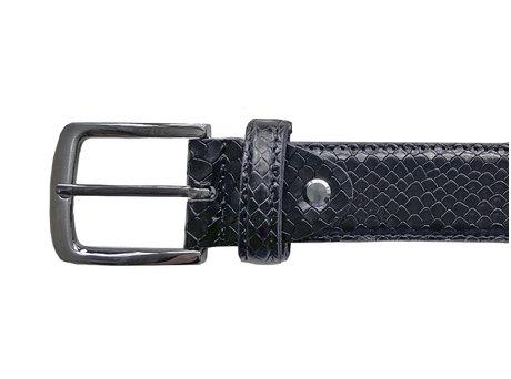 Belt Snake Met Dark Green-Black