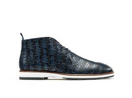 Potsavivo Weave   Dark blue lace up shoes