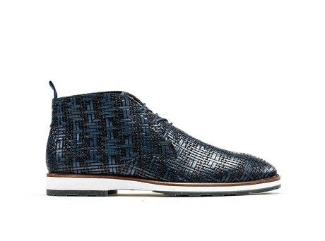 Potsavivo Weave | Dark blue lace up shoes