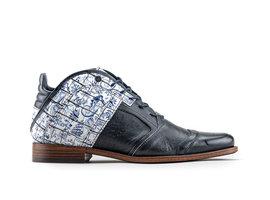 Kurt II Fred Tattoo   Midhoge wit-blauwe schoenen