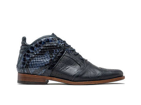Kurt II Snk Vnz | Mid-top dark blue shoes