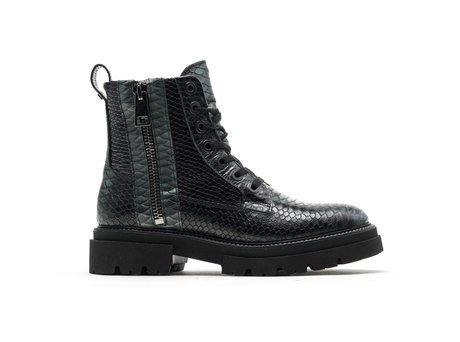 Kizz Snk   Donkergroen-zwarte boots