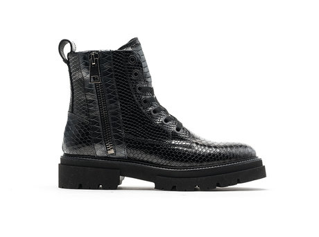 Kizz Snk | Donkergrijze-zwarte boots