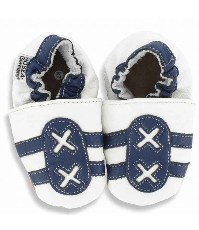 Hobea babyslofjes sport wit/blauw  (Kruip)