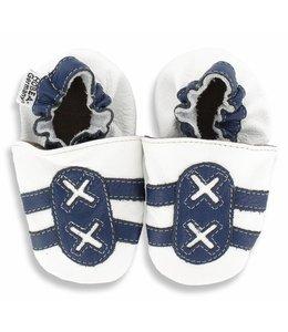 Hobea babyslofjes sport wit/blauw (Loop)