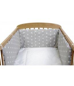 Hoofdbeschermer babybedje grijs met sterren