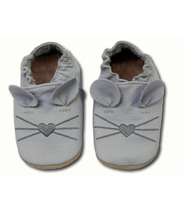 Hobea babyslofje muis licht grijs (Kruip)