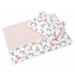 Hobea bed set kussen en deken hert