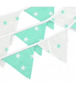 Vlaggenlijn mintgroen sterren