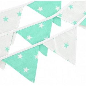 Hobea Vlaggenlijn mintgroen sterren