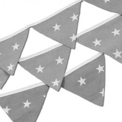 Vlaggenlijn grijs met witte sterren