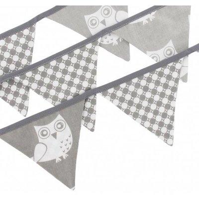 Vlaggenlijn grijs met uilen