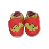 Babyslofje Dino rood