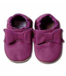 Babyslofjes paars met strik (Kruip)