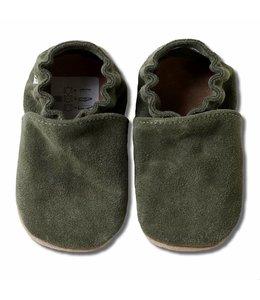 Babyslofjes olijfgroen suede (Kruip)