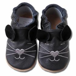 Babyslofjes Kat zwart