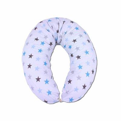 Hoes voor voedingskussen Blauwe sterren