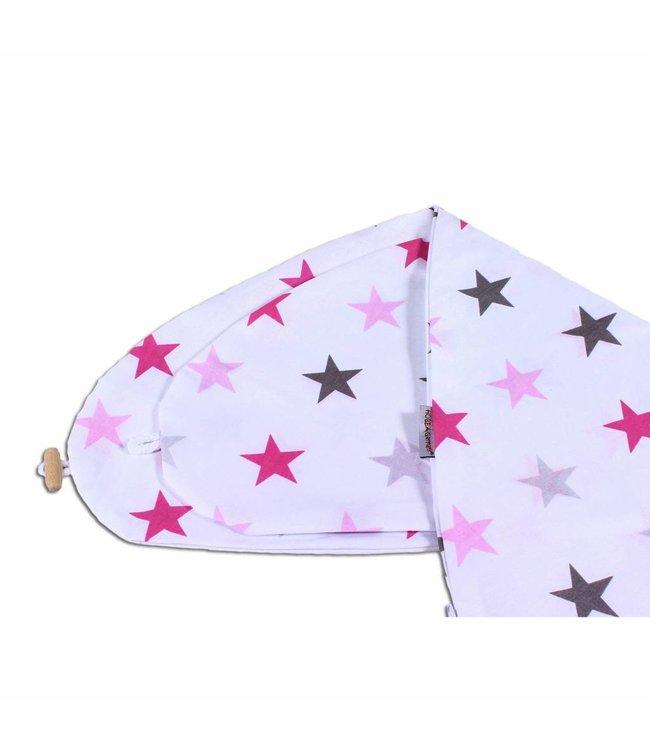 Hoes voor voedingskussen Roze sterren