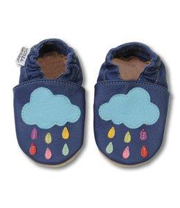Babyslofjes blauw met wolk