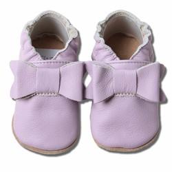 Babyslofjes lila  paars met strik