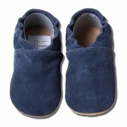 Babyslofjes blauw suede