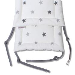 Hoofdbeschermer babybedje wit met sterren