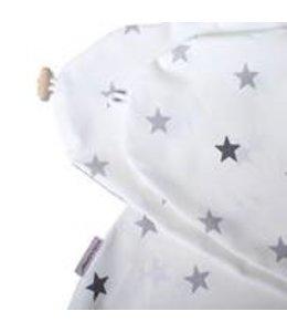 Hoes wit met grijze sterren