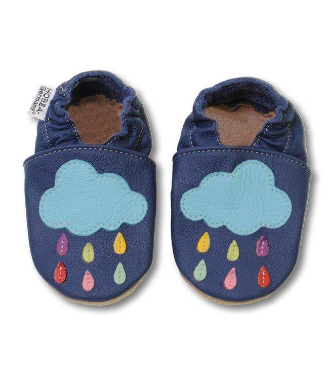 Babyslofjes blauw met wolk (Loop)