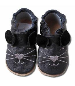 Babyslofjes Kat zwart (Loop)
