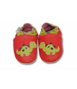 Babyslofje Dino rood (Kruip)