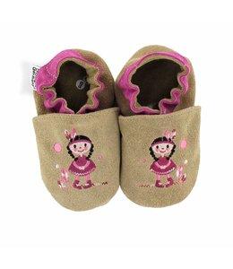 Hobea babyslofjes indiaantje bruin (Kruip)