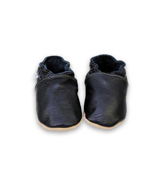 Babyslofjes effen zwart (Kruip)