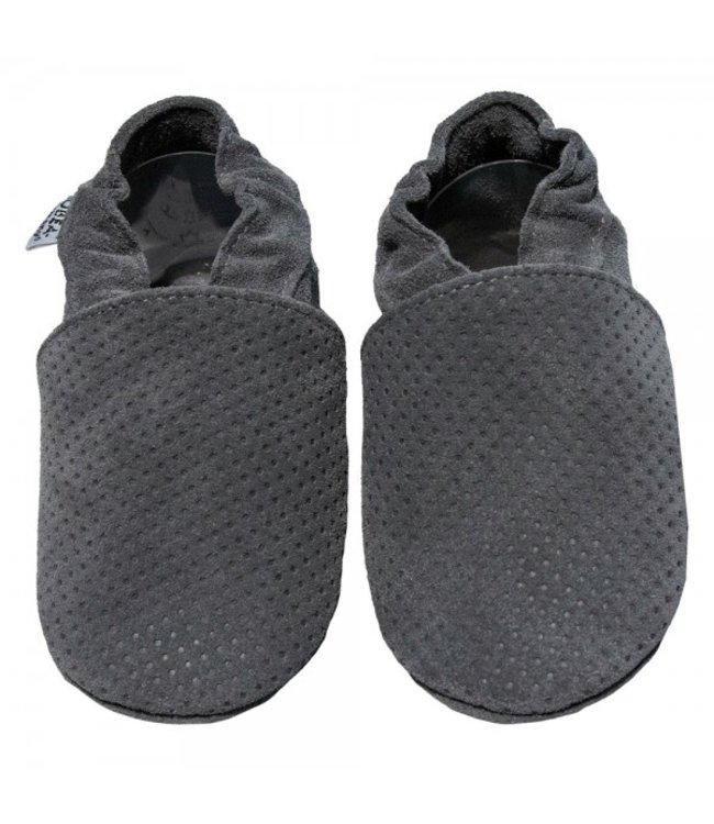 Babyslofjes grijs met reliëf (Loop)