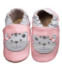 Babyslofjes roze met kat (Kruip)