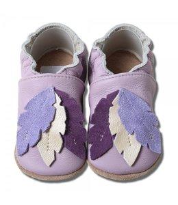 Babyslofjes lila met veren (Kruip)