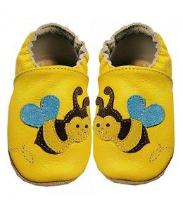 Babyslofjes geel met bij (Kruip)