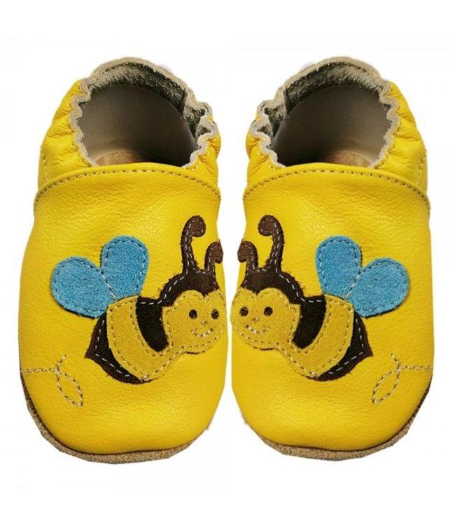 Babyslofjes geel met bij (Loop)