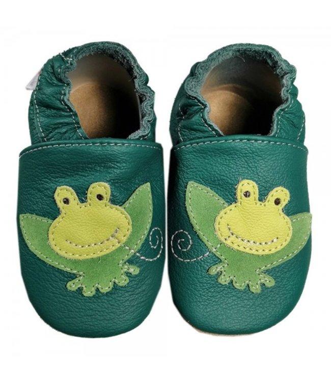 Babyslofjes groen met kikker (Kruip)
